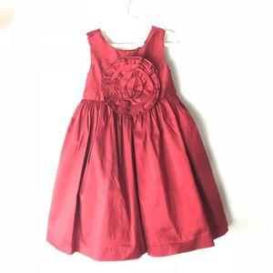 Janie & jack holiday dress red silk special 4